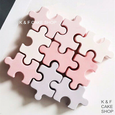 7X Puzzle Silikonform Art Kuchenform Schokoladenform Puddingform Mousse Backform