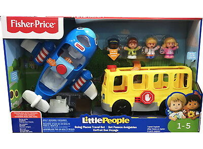 Fisher Price Little People Going Places Travel Bus & Plane Kids Toy Set