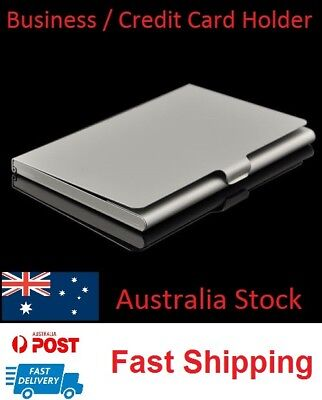 Business Credit Card Holder Storage ID Stainless Steel Pocket Metal Box