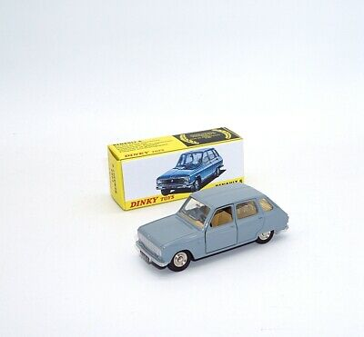 DINKY TOYS 1/43 1453 RENAULT 6 NEW CAR MODEL ALLOY die-cast   ATLAS COLLECTION