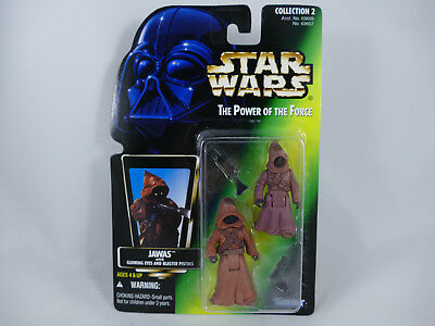 Pg1 Star Wars Potf2 Jawas With Glowing Eyes Picture Green Card Moc
