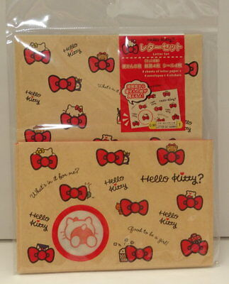 Hello Kitty Letter Set 4Envelopes 8Sheets  Letter Paper+4Stickers Made In JapanB