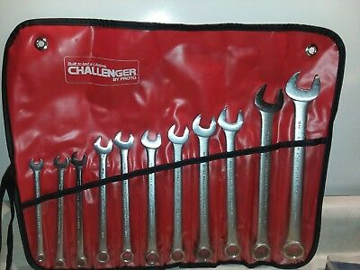 Vintage * CHALLENGER * 7- 18 mm Proto Metric Combination. 11-Wrenches 6118M USA