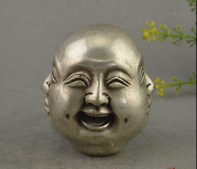 Fine Chinese Bronze Copper silvering All sides Buddha