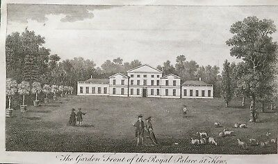 1776 Antique Print; Kew Palace (The White House), London by Goadby