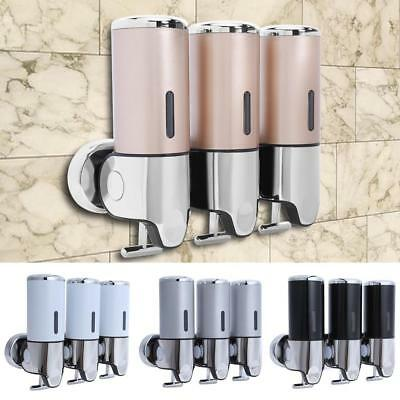 Bathroom Shower Soap Shampoo Gel Dispenser Pump Wall Mounted 3 Bottles