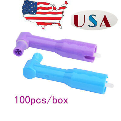 100PCS Dental Disposable Prophy Angles with Firm Cup Latex Free a Box