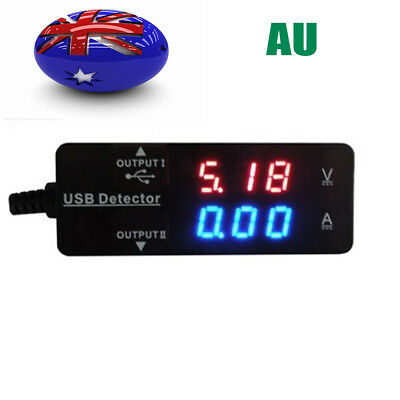 HKATOPS AU Detector Tester USB Power Charger LED Voltage Monitor Meter For Phon