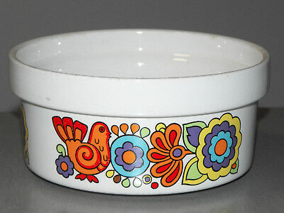 Vintage GAYTIME BAKING DISH Lord Nelson Pottery PSYCHEDELIC 60s Retro ACAPULCO