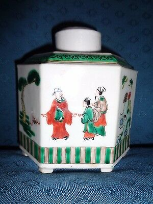 Antique Chinese porcelain Tea Caddy