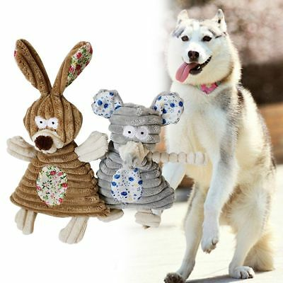 Pet Puppy Chew Squeaker Squeaky Plush Sound For Dog Cat Play Toy Rabbit