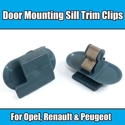 5x Clips For Opel Door Mounting Sill Trim Clips Peugeot Renault Blue Plastic