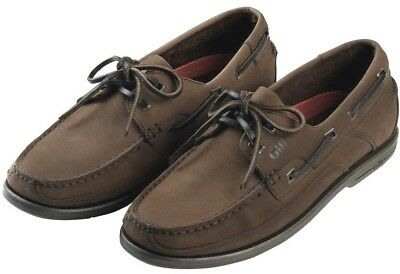 Mens Gill Real Leather Deck Casual Boat Loafers Nubuck Brown Shoes size 6 - 12