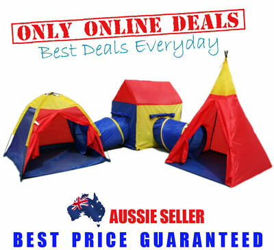 Childrens Toddlers  Kids Play Tent Cubby House Teepee Tunnels Toy Gym Ground
