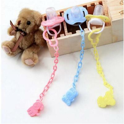 1PC Baby Infant Toddler Dummy Pacifier Soother Animal Clip Chain Holder FI
