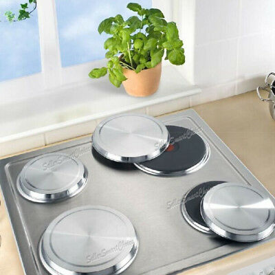 4pcs Set Round Stainless Steel Stove Top Covers Kitchen Cook Burner