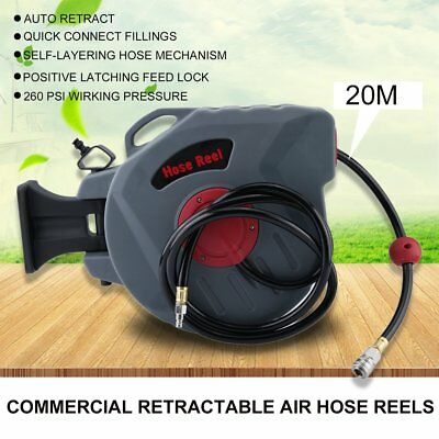 10/20M Length Wall Mounted Retractable Air Hose Reel Auto Rewind Rolling Machine