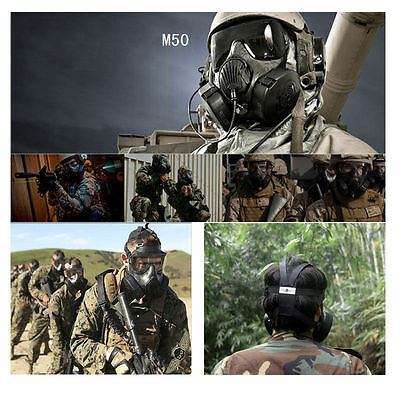 M50 Airsoft Gas Mask Googles Paintball Protective CS Perspiration Dust Face Mask