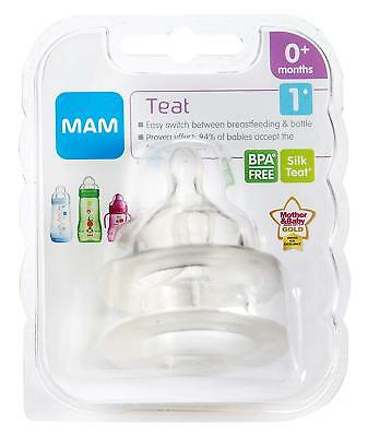 MAM Slow Flow Bottle Teats for use with MAM Bottles (2-pack)