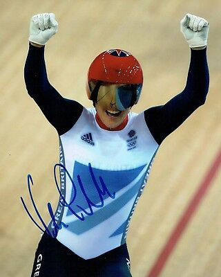 Victoria PENDLETON Autograph Signed Cyclist Olympic Medal Winner Photo AFTAL COA