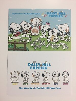 Snoopy Town shop Japan POSTCARD DAISY HILL PUPPIES 2cards 2018 from Japan