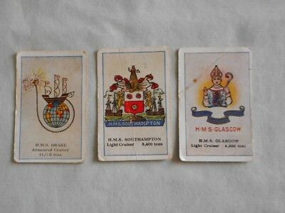 Sniders and Abrahams Cigarette Card Collector Card - A total of 3 Ship cards