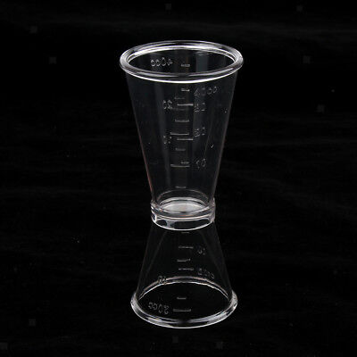 Clear Cocktail Jiggers 40cc & 20cc Metric Mixed Drinks Shots Measuring Cup