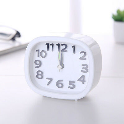 Rectangle Small Bed Compact Travel Quartz Beep Alarm Clock Cute Portable  VA