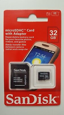 SanDisk 32GB Micro SD SDHC Memory Card With Adapter NEW
