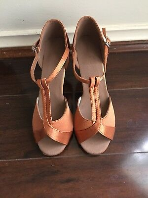 Copper Evening Cocktail Dancing Shoes Size 6