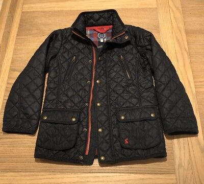 Boys Navy Quilted Jacket By Joules - Age 8 Years