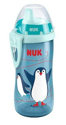 NUK First Choice+ Kiddy Cup, Penguin Print, 12+ Months, 300ml, No Leak - Blue