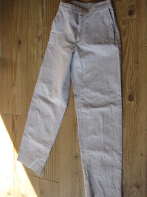 "Vintage Trousers Dark Horse Waist 24"" Leg 25"" Age From About 8 Light Grey"