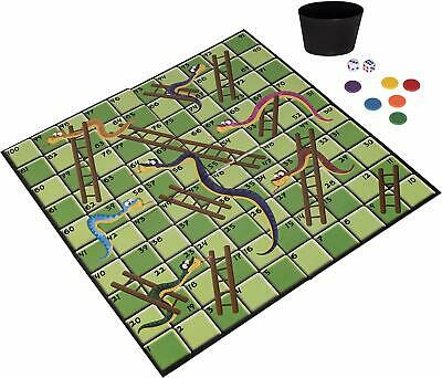 Classic Snakes & Ladders Traditional Board Game Kids Adult Family Fun Toy