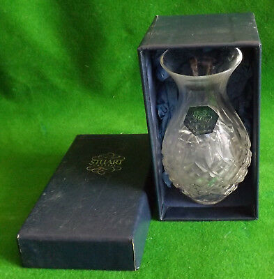 "CHLOE VASE 4"" High SHAFTESBURY CRYSTAL With Case"