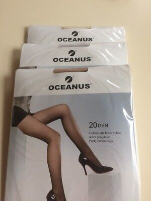 3 Pairs Of Sheer Light Support Tights Made In Italy