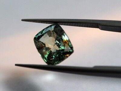 GII Certified 2.55 Ct Natural Alexandrite Ceylon No Heat Top Grade Cushion Gem