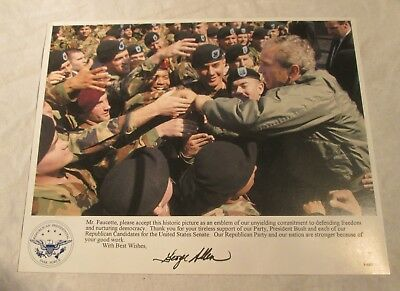 GEORGE W. BUSH Photo Signed by GEORGE ALLEN - Republican Presidential Task Force
