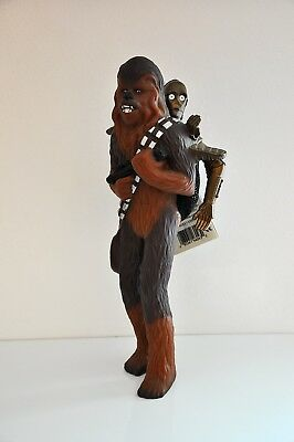 Grande figure figurine Star wars applause chewbacca et c-3po vintage 1995