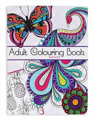 Adult Colouring Book 96 Pages for Stress Relief and Relaxation