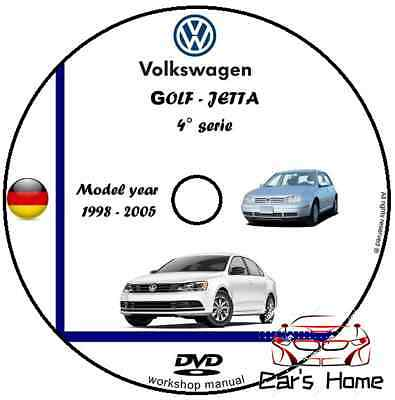 MANUALE OFFICINA VOLKSWAGEN GOLF GOLF GTI JETTA mk4 my 88 05 WORKSHOP MANUAL DVD