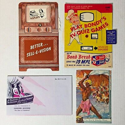 Lot Of Four Vintage Interesting Advertising Pieces