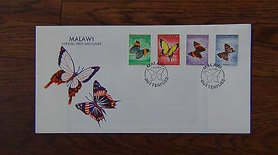 Malawi 1984 Butterflies set on First Day Cover