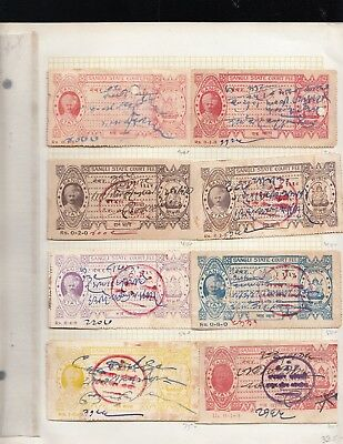 Indian Princely State Sangli State collection with a 1983 catalog value of $1655