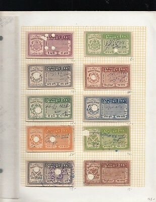 Indian Princely State Nabha State collection with a 1983 catalog value of $410