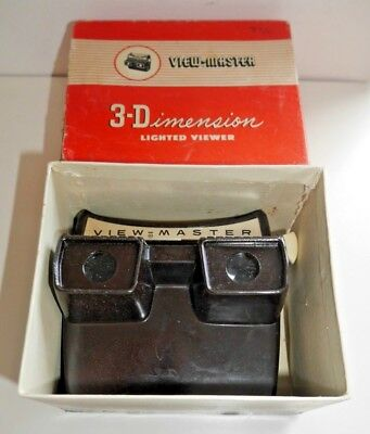 SAWYER'S VIEWMASTER LIGHTED VIEWER ORIGINAL 1950's MODEL F WORKING & BOXED  B856