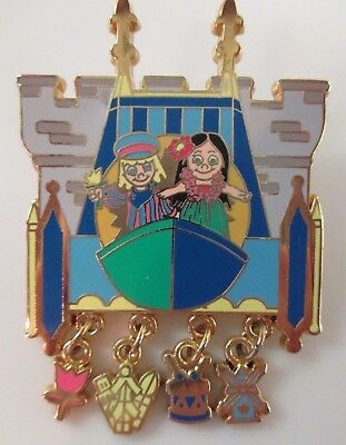 Disney Pin - Gold Card - It's a Small World - Charms LE #60428