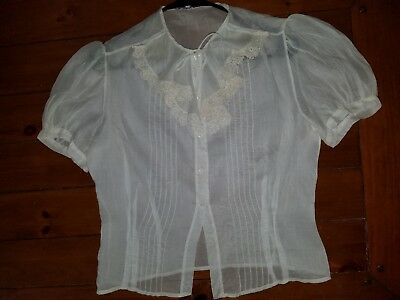 40's Antique Vintage Amazing Gunne Sax SHIRT BLOUSE TOP Joan Kenley Medium