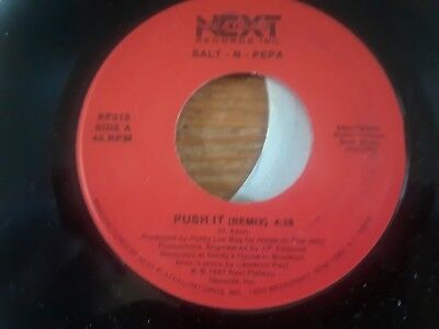 SALT-N-PEPA ~ PUSH IT 45 rpm record - Remix, Next Plateau label, Hip-Hop classic