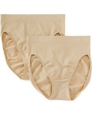 LOT of 2 PAIRS  3X  MAIDENFORM Go-To Seamless Shaping Hi-Cut Brief Panties 12586